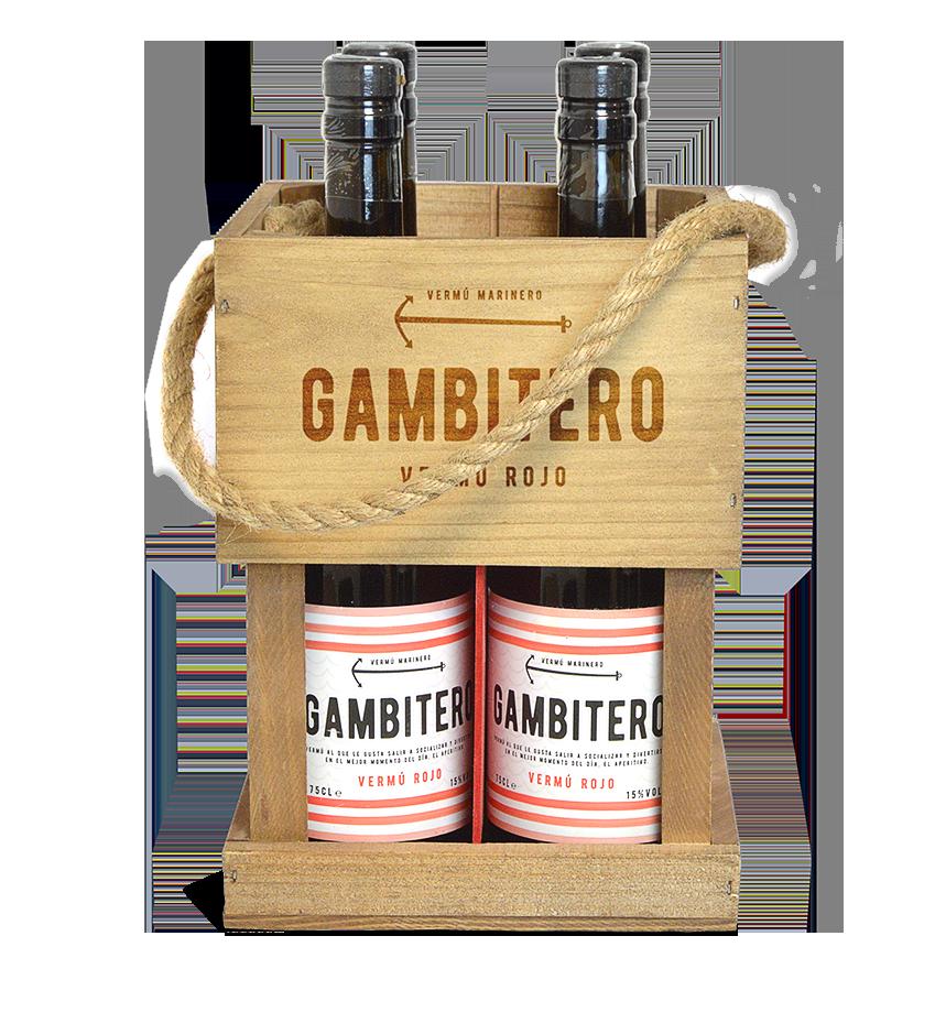 botellas gambitero